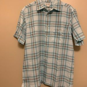 Plaid Short Sleeve Button Up (M)